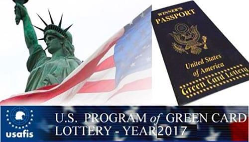 نتایج لاتاری 2017 گرین کارت آمریکا