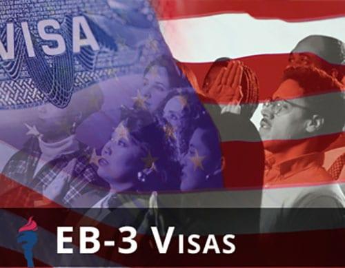 ویزای eb3 ویزای کار آمریکا