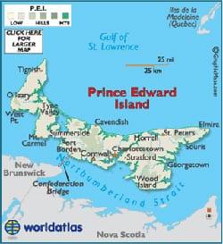 موقعیت جغرافیایی جزیره پرنس ادوارد